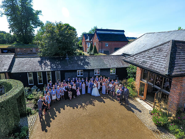 Wedding group Drone Photography